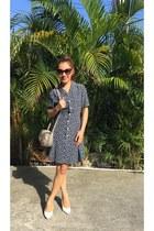navy HKs dress - heather gray Esprit bag - black Dsquared2 sunglasses