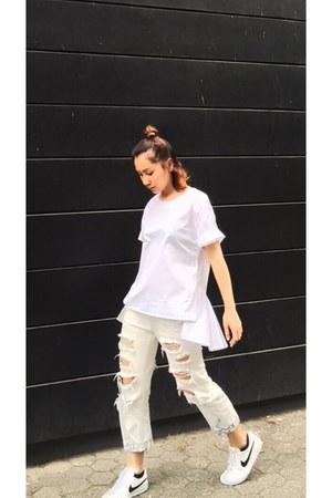 white DKNY blouse