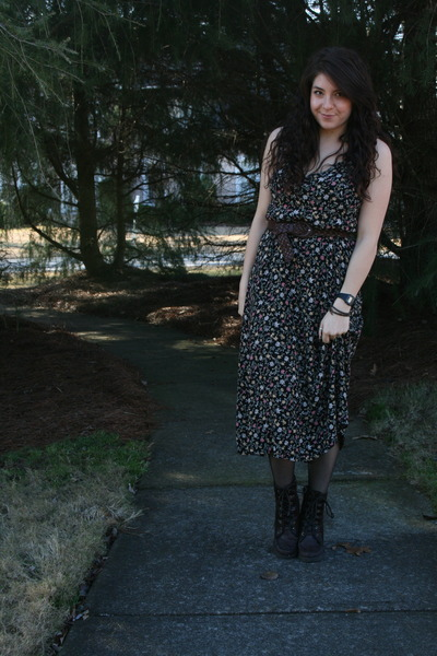 Zigi Soho boots - thrifted dress