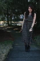 Zigi Soho boots - thrifted dress