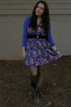 alloy cardigan - Target dress - Ebay boots