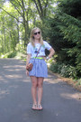 tawny studded DIY bag - purple Charlotte Russe sunglasses - chartreuse neon Gap