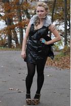 black DIY dress