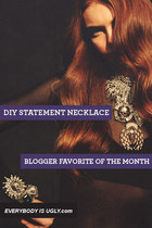 DIY Statement Necklace: Blogger Favorite of the Month