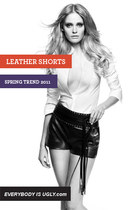 Leather Shorts: Spring Trend 2011