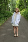 White-flower-diy-jacket-camel-forever-21-shoes-ivory-lace-target-dress
