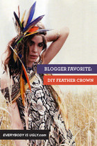 Blogger Favorite: DIY Feather Crown