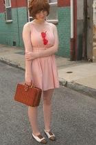 Forever21 dress - sunglasses - vintage purse - vintage shoes