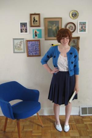 hm sweater - hm top - vintage skirt - vintage shoes - vintage purse