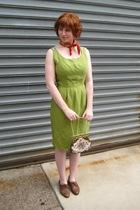 vintage scarf - vintage dress - vintage purse - vintage shoes
