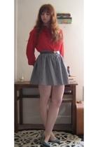vintage blouse - vintage skirt - vintage belt - Beacons Closet shoes