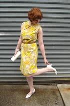 vintage dress - vintage purse - vintage belt - vintage shoes