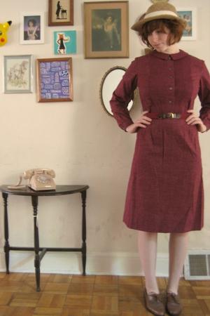hat - dress - vintage shoes
