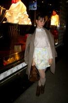 brown H&M shoes - metallic shine ann taylor sweater