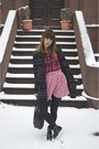 Black-zara-boots-ruby-red-aeropostale-shirt-black-marc-by-marc-jacobs-bag