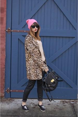 leopard print calvin klein jacket - hot pink Forever 21 hat