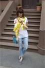 Polka-dot-diy-jeans-white-target-shirt-ann-taylor-scarf
