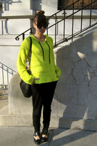 chartreuse t by alexander wang hoodie - black Jeffrey Campbell shoes