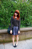 black Hush Puppies shoes - Zara shirt - black Marc by Marc Jacobs bag