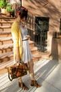 Mustard-target-cardigan-dark-brown-h-m-boots-urban-outfitters-dress