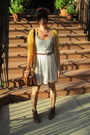 Dark-brown-h-m-boots-urban-outfitters-dress-dark-brown-zara-bag