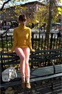 Light-brown-aldo-shoes-salmon-forever21-jeans-light-orange-zara-sweater