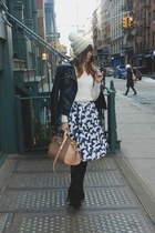 Alice  Olivia skirt - black Zara boots - free people hat - black Zara jacket