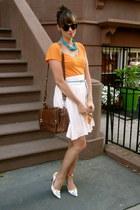 Nine Weste shoes - orange Zara shirt - dark brown Zara bag