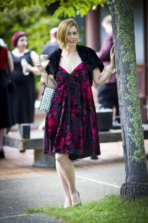 burn-out velvet Betsey Johnson dress