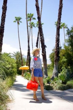Furla purse - H&M shorts - LF blouse - Jcrew accessories - Steve Madden sandals