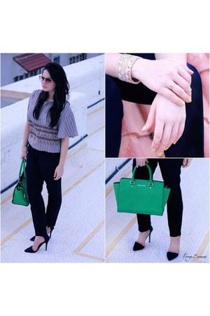 Forever 21 top - bright green Michael Kors bag - new look heels