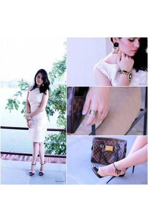 Vero Moda dress - Louis Vuitton bag - Charles & Keith heels - Bebe bracelet