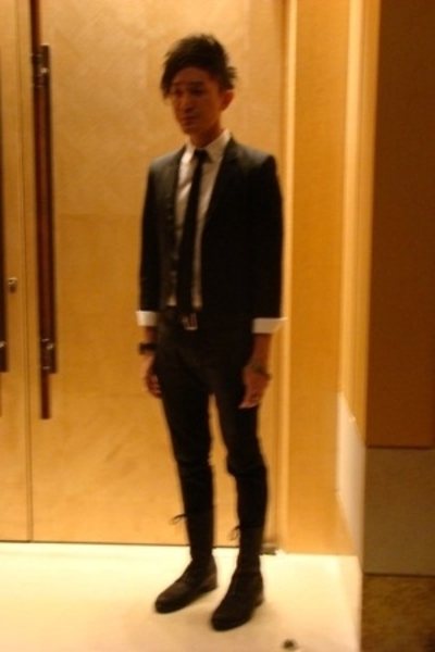 hare jacket - dior homme shirt - dior homme tie - dior homme belt - dior homme p