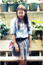Blue-babo-top-black-bazaar-greenhills-skirt-bag