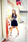 Heather-gray-forever-21-twist-top-black-forever-21-skirt-nude-ichigo-shoes-