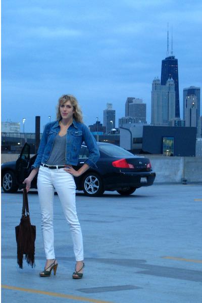 jacket - shirt - jeans - purse - shoes - belt