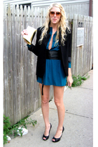 purse - blazer - belt - shoes - dress