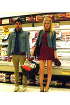 jacket - dress - belt - purse - shoes