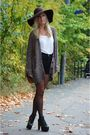 Black-jeffrey-campbell-shoes-black-never-denim-shorts-brown-h-m-hat-brown-