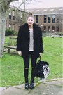 Black-faux-mongolian-urban-outfitters-jacket-black-diy-cut-out-topshop-pants