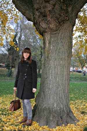 angora wool Jigsaw coat - Office boots