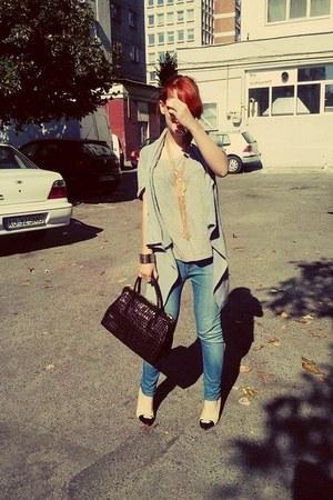 calvin klein jeans - Saks Fifth avenue bag - H&M t-shirt - meli melo necklace