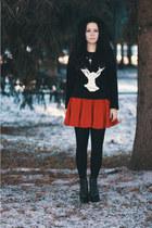 acryl Boohoo jumper - wool Topshop skirt