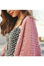 Coral-knit-urban-outfitters-cardigan