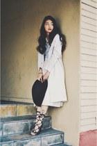 beige trench coat H&M coat - beige midi Forever 21 skirt