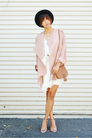 tan Choies blazer - eggshell Sugarlips Apparel dress - black bowler hat