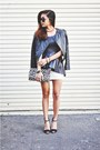 White-urban-outfitter-dress-black-forever21-blazer-beige-h-m-bag