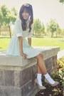Light-blue-choies-dress-beige-suede-forever-21-heels