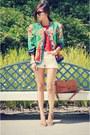 Forever-21-sweater-vintage-thrifted-vintage-blazer-forever-21-shorts