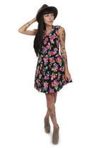 neon floral hella vintage dress